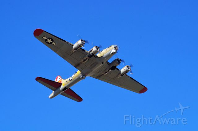 "Boeing B-17 Flying Fortress (N93012) - B17 ""Nine-O-Nine"" departing KPWA from 17R on 03-APR-2016."