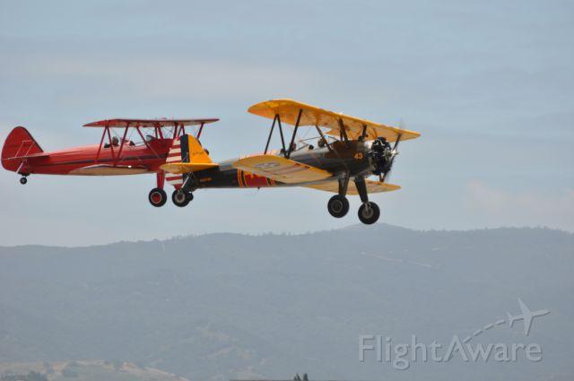 — — - @ Steermans at Hollister Airshow