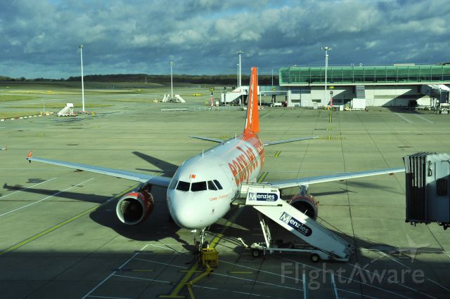 """Airbus A319 (G-EZIW) - EasyJet Airbus A319-111 """"Linate-Fiumicino Per Tutti"""" G-EZIW in London Stansted Airport"""