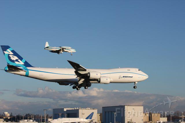 BOEING 747-8 (N747EX) - 747-8 AFTER FIRST FLIGHT LANDING