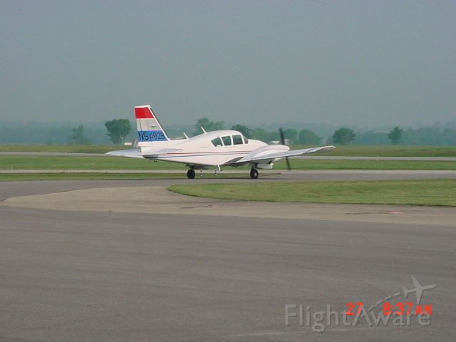 Piper Aztec (N54828) - Taxiing to ramp on 5/27/10