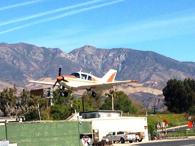 BELLANCA Viking (N28010) - N28010 landing Santa Paula on 11/08/2014