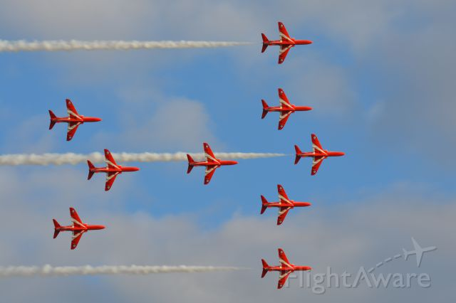 Boeing Goshawk (MULTIPLE) - The Red Arrows performing at the Duxford Air Show on 20 September 2015.