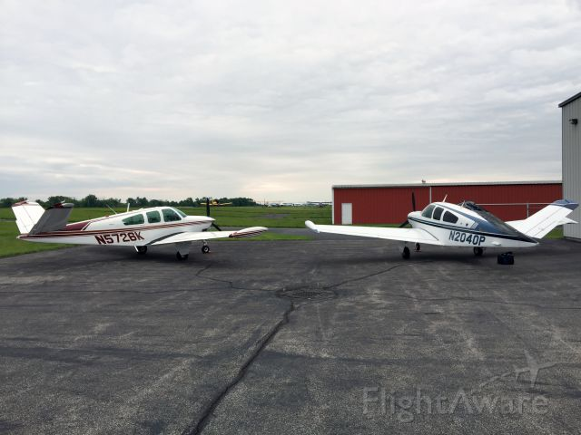 Beechcraft 35 Bonanza (N5726K) - With N2040P