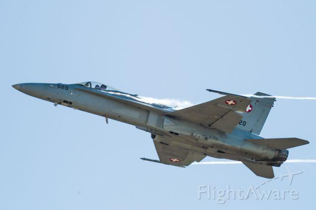 McDonnell Douglas FA-18 Hornet (J5020) - in flight over Axalp training area