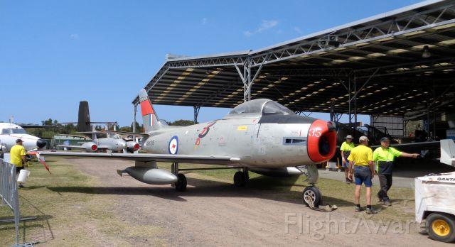 A04935 — - CAC CA-27 MK32 SABRE A94-935. No3 SQN. RAAF. at CUD/YCDR. QAM 2016-10-11.
