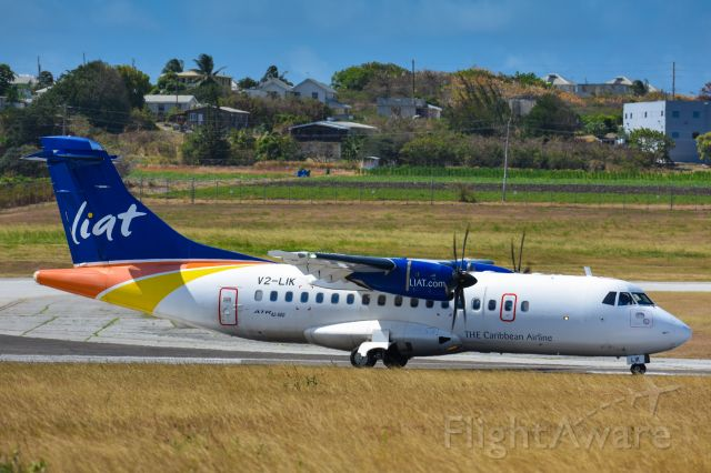 Aerospatiale ATR-42-600 (V2-LIK) - Liat 364 about to depart for Pointe-a-Pitre, Guadeloupe (PTP)
