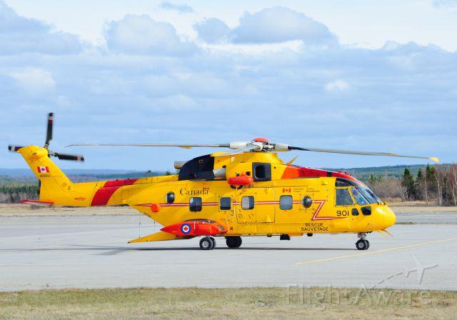WESTLAND Merlin (14-9901) - Cormorant CH149 touching down on the ramp at 103 SAR Squadron, CFB Gander, Newfoundland.