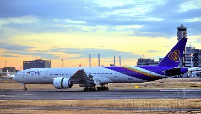 BOEING 777-300 (HS-TKL) - Landing with Sunrise...