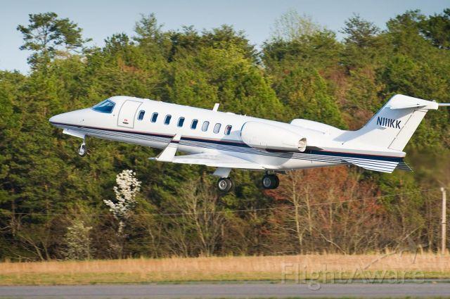 Learjet 45 (N111KK) - Departing Hickory on Rwy 6 - 31.Mar.10