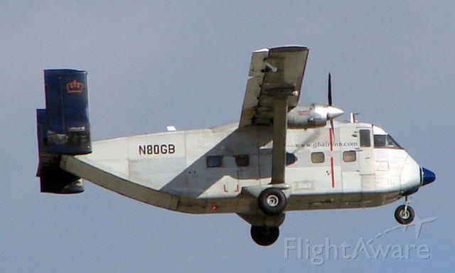 Short Skyvan (N80GB) - GB Airlinks Shorts Skyvan is the wierdest type of aircraft shape