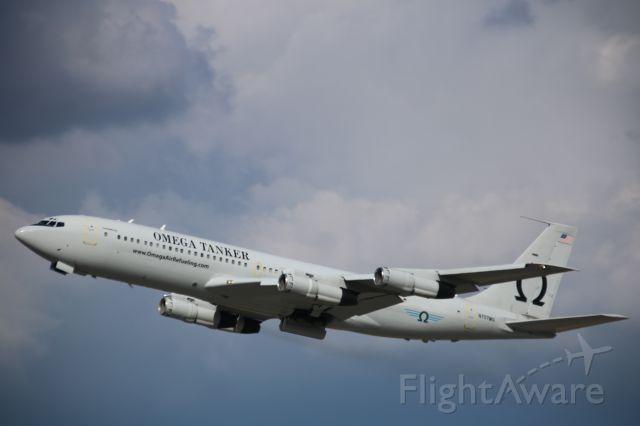 Boeing 707-300 (N624RH) - departing KRIV.......