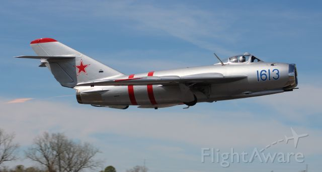 MIKOYAN MiG-17 (NX917F) - A Mikoyan-Gurevich MIG-17, departing Sonny Callahan Airport, Fairhope, AL, during the Classic Jet Aircraft Association 2020 Jet Blast - morning of March 7, 2020.
