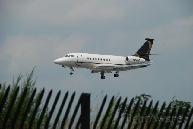 N89CE — - Falcon 2000EX landing at Teterboro.