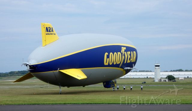 Unknown/Generic Airship (N2A) - Almost ready for departure is this 2016 Goodyear Blimp in the Summer of 2019. One of many this mainly serves the east coast of the United States.
