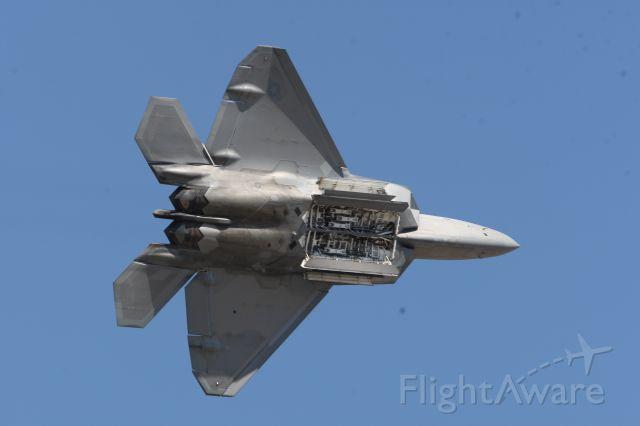 Lockheed F-22 Raptor — - Bomb Bay doors open