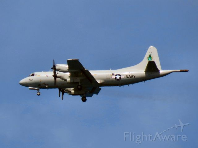 Lockheed P-3 Orion (N762) - VPU-2 P-3 Orion on final approach to Lihue, Kauai.br /The Wizards are watching!