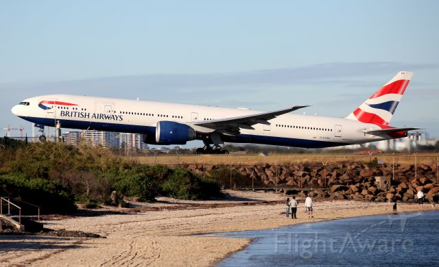 BOEING 777-300ER (G-STBB) - Lifting Off from Rwy 34L