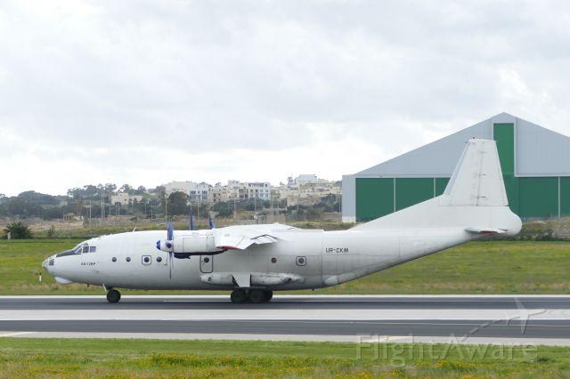 Antonov An-12 (UR-CKM) - Seen on departure in ALL WHITE