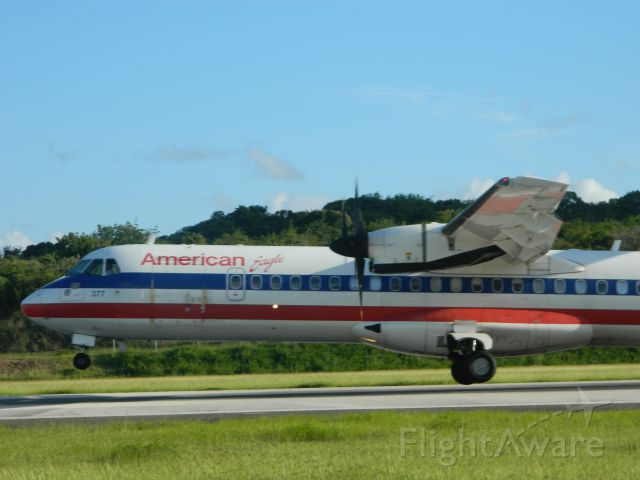 ATR ATR-72 (N407AT) - EGF4816 touching down @Beef