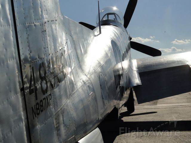 — — - Glamour shot of Tom Reilly's NAA XP-82 Twin Mustang