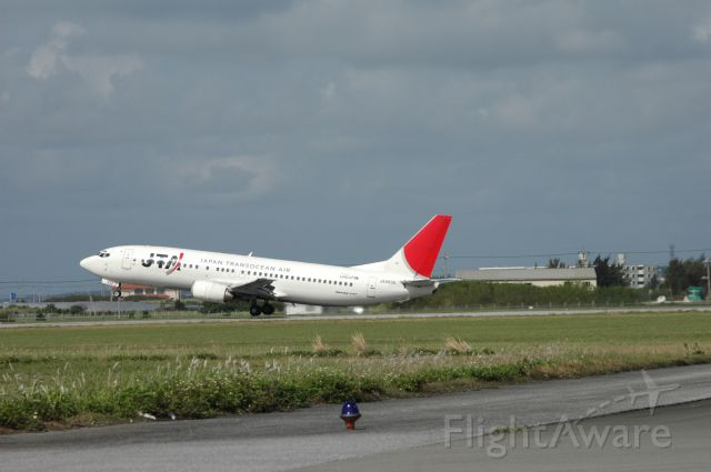 Boeing 737-700 (JA8932) - Just take off to OKA