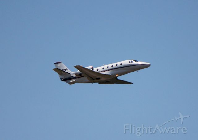 Cessna Citation Excel/XLS (N689QS) - Taking off from Runway 34 at Asheville, NC.