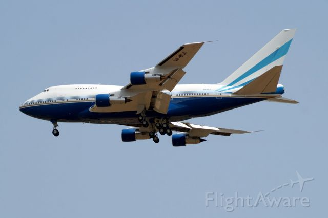 Boeing 747-200 (VP-BLK) - A rear opportunity to spot this beautiful LV Sands B747SP in ATH/LGAV
