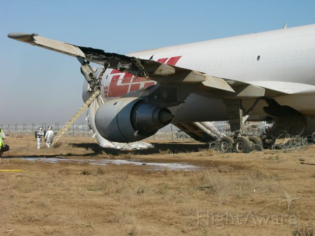 Airbus A320 — - Emergency landing at ORBI (SDA) after being hit by RPG, 2003