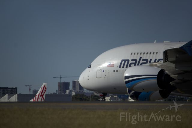 Airbus A380-800 (9M-NMA) - MAS A388 AT SYD A MONTH AGO