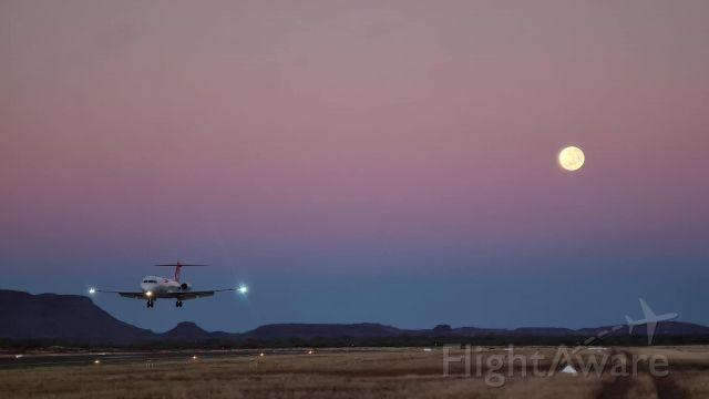 — — - Fokker 70 landing in Paraburdoo Western Australia!.