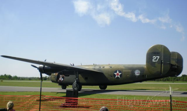 Consolidated B-24 Liberator (N24927) - Taken in 2014. (Not really the best photo)