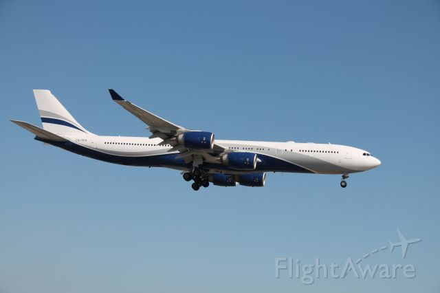 Airbus A340-500 (CS-TFX) - Subbing in for the usual Air France