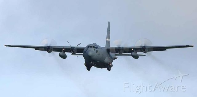 Lockheed C-130 Hercules (92-0549) - A couple of pictures of C-130H 92-0549 on 05/03/2019 on finals to runway 25 at Belfast / Aldergrove.  The aircraft departed around 1100 and returned around 1430 with one propeller feathered and has remained since.