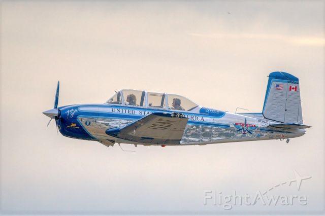 Beechcraft Mentor (N134JC) - Beech A45 over Livermore Municipal Airport. Veteran's Day 2020, Livermore CA.