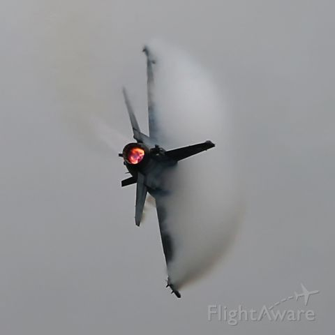 Lockheed F-16 Fighting Falcon — - Bad wx provides for some different action shots.