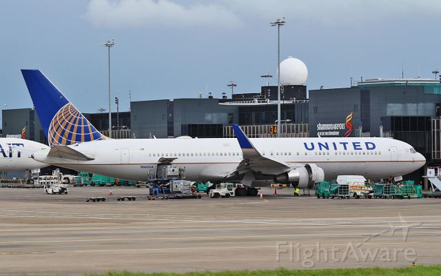 BOEING 767-300 (N666UA) - united b767-322er n666ua diverted to shannon while routing athens to new york (ewr) due to an engine issue 20/7/17.