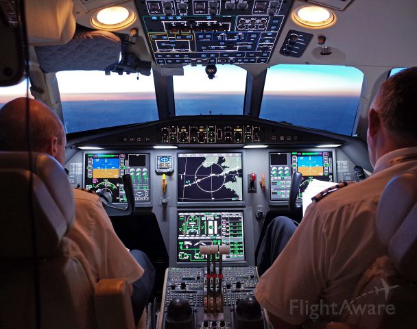 Dassault Falcon 900 (VP-BPW) - Falcon 900EX inbound to EGHI from KPBI at FL41. Hope you enjoy early morning flight deck atmosphere over Atlantic. Image Pentax Ricoh GR compact ...