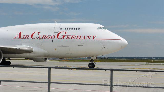 Boeing 747-400 (D-ACGA) - Eine abgestellte B747-400SF der insolventen Air Cargo Germany. Vom 19.05.2013.