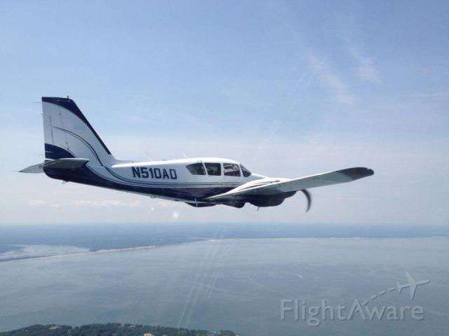 Piper Aztec (N510AD) - Air to air work.