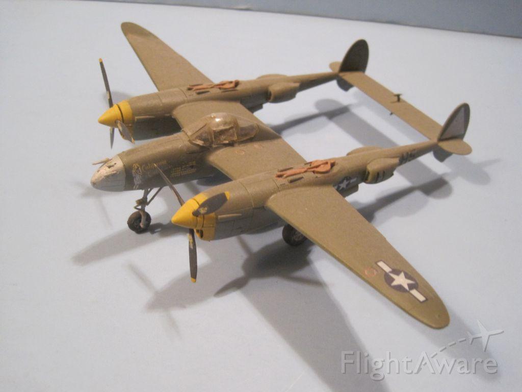 — — - 1/72 scale model, Lockheed P-38J/L Lightning.  The fork tailed devil!