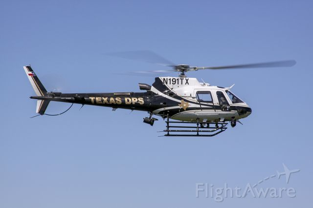 N191TX — - Texas DPS Astar in the sky over rural Texas