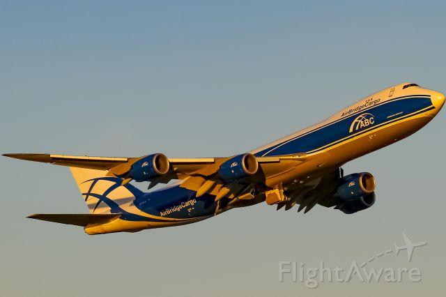 BOEING 747-8 (VQ-BLR) - deep orange evening sun