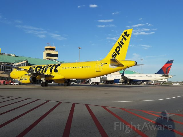 Airbus A321 (N668NK) - Awaiting for pushback clearence.