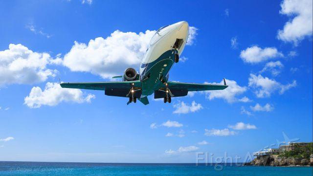 Learjet 60 (N724EF) - Landing in St. Maarten; 01-31-2017