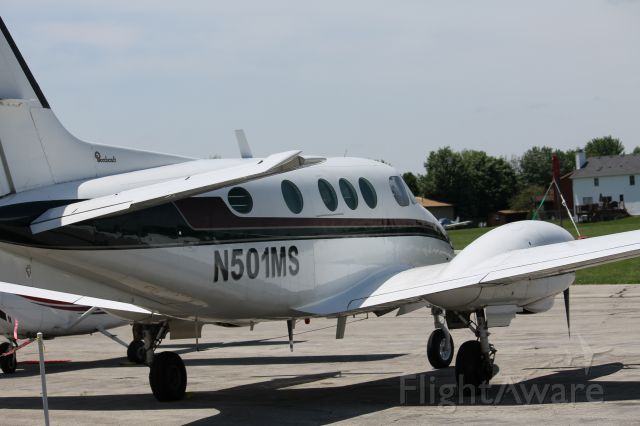 Beechcraft King Air 90 (N501MS) - N501MS sitting on the ramp for the airshow!