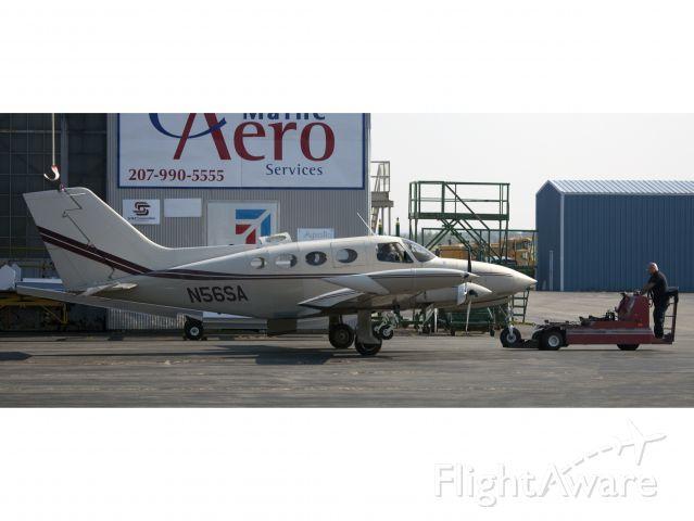 Cessna 402 (N56SA) - professional aircraft maintenance at Aero Maine Services, Bangor ME.