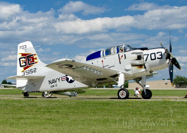 Douglas AD Skyraider (N65164) - At AirVenture.