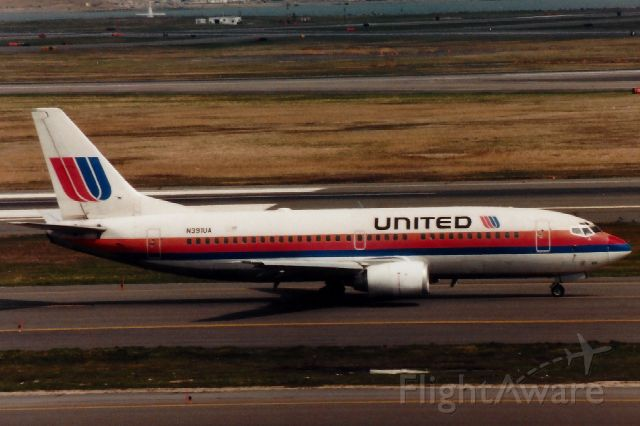 BOEING 737-300 (N391UA) - From 1997 - This B737-322 also flew for Shuttle by United.