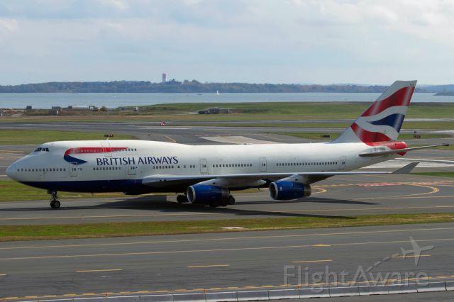 Boeing 747-400 (G-BNLW) - Speedbird heavy from Heathrow, taxiing in.